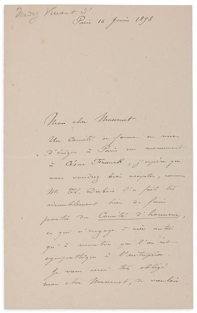 INDY VINCENT D' (1851-1931)