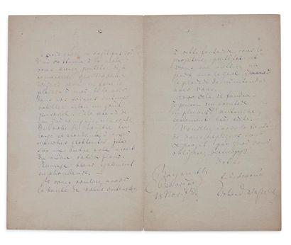 WAGNER RICHARD (1813-1883) L.A.S., Bayreuth (Bavière) 18 novembre 1878, [au couturier...