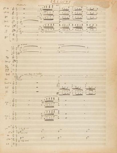 AURIC Georges (1899-1983). MANUSCRIT MUSICAL...