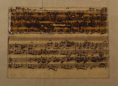 BACH Johann Sebastian (1685-1750). MANUSCRIT...