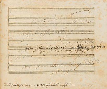 BEETHOVEN Ludwig van (1770-1827). MANUSCRIT...