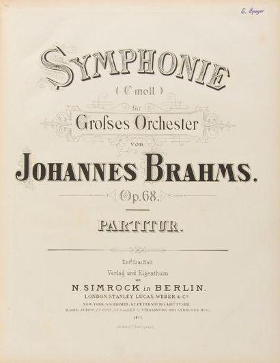 BRAHMS Johannes (1833-1897). 5 volumes de...