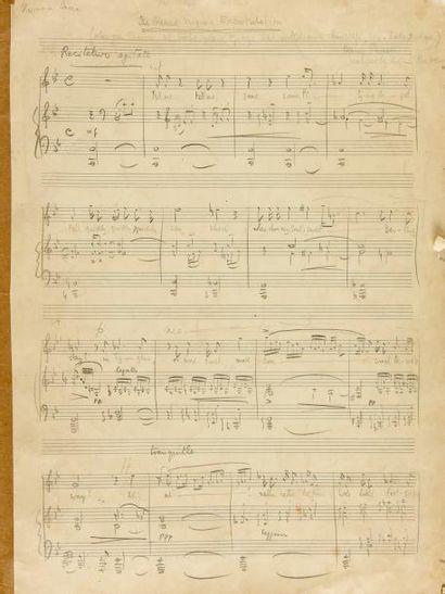 BRITTEN Benjamin (1913-1976). MANUSCRIT MUSICAL...