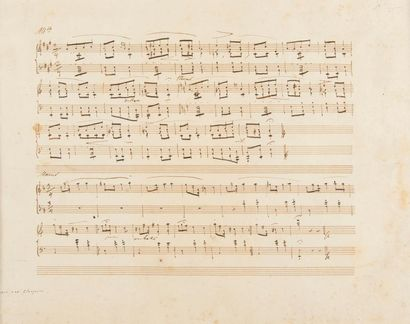 CHOPIN Frédéric (1810-1849). MANUSCRIT MUSICAL...
