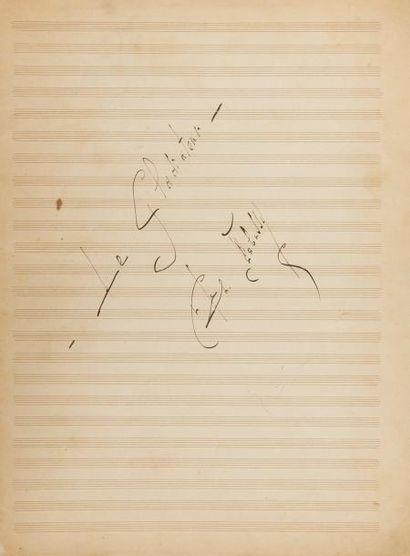 DEBUSSY Claude (1862-1918). MANUSCRIT MUSICAL...