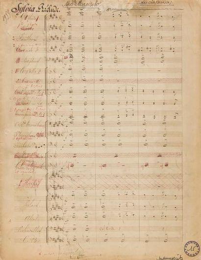 DELIBES Léo (1836-1891). MANUSCRIT MUSICAL...