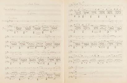 DUPARC Henri (1848-1933). MANUSCRIT MUSICAL...