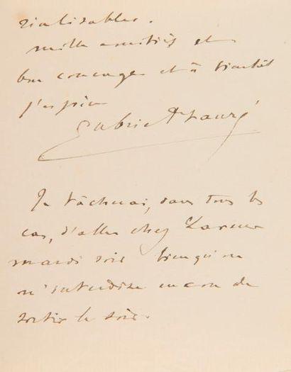 FAURÉ Gabriel (1845-1924). 2 L.A.S., 1889-1890,...