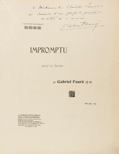 FAURÉ Gabriel (1845-1924). Impromptu pour...