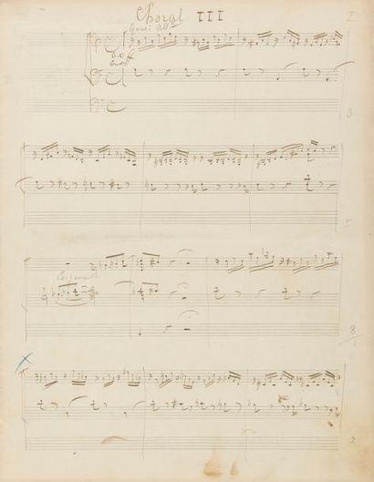 FRANCK César (1822-1890). MANUSCRIT MUSICAL...