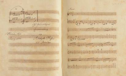 MUSIQUE. ALBUM MUSICAL, Musikalisches Album d'Aloys FUCHS, recueil de 112 MANUSCRITS...