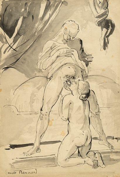 Émile BERNARD (1868-1941). Gourmandise, vers...