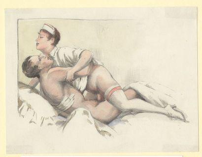 [Artistes non identifiés]. Couples en action,...