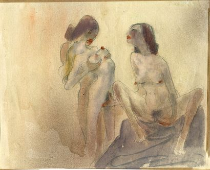 Otto Rudolf SCHATZ (1900-1961). Les Caresses,...