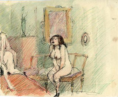 Otto Rudolf SCHATZ (1900-1961). Scène de...