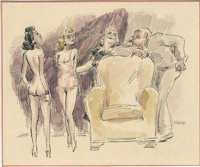 Robert SCHIFF (1869-1935), Autoportrait à...