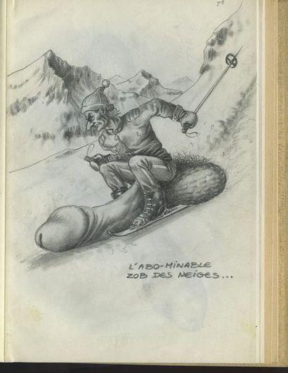 29 dessins érotiques originaux, 1978-1979....