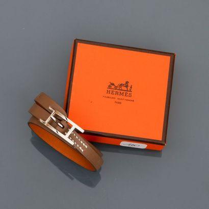 HERMES Paris, HAPI. Bracelet de cuir naturel,...