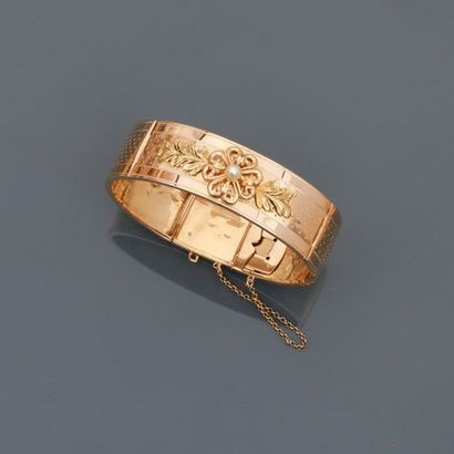 Bracelet rigide ouvrant en or jaune, 750...