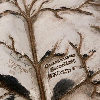 Gianmaria BUCCELLATI, Vide poche dessinant unen feuille de lierre, argent 925 MM,...