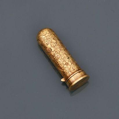 Etui de rouge à lèvres en or rose, 750 MM,...