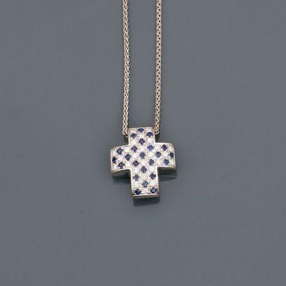 HPB. Chaîne et pendentif en croix stylisée...