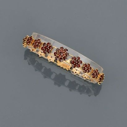 Bracelet souple en or jaune, 750 MM, dessinant...