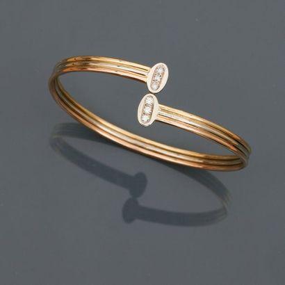 FRED, Bracelet deux ors, 750 MM, orné de...
