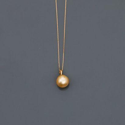 Fine chaîne et pendentif en or jaune, 750...
