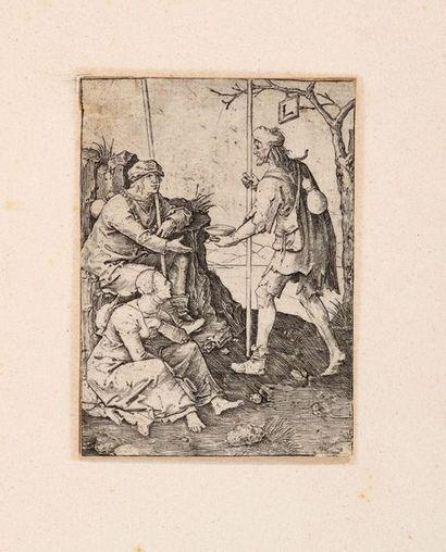 Lucas de LEYDE (1494 -1533)  Deux Paysans...