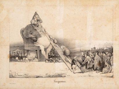 Honoré DAUMIER (1808 - 1879)  Gargantua,...