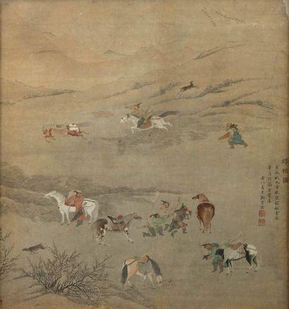 2  CHINE, XIXème siècle  D'après Gujianlong...