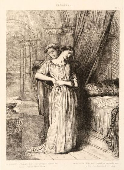 Théodore CHASSERIAU (1819 - 1856)  Othello,...