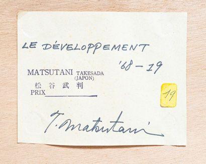 Takesada MATSUTANI (né en 1937)  Le développement '68' - 19  Acrylique sur toile...