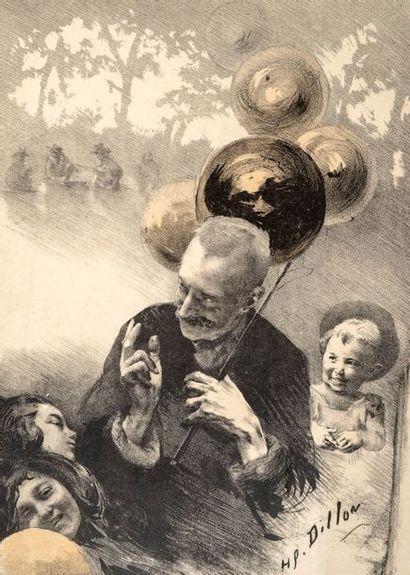 Henri Patrice DILLON (1851 -  1909)  Le marchand...