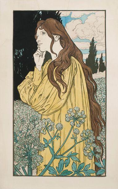 Eugène GRASSET (1845 - 1917)  Danger – Méditation....