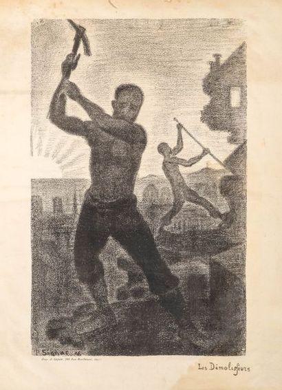Paul SIGNAC (1863 - 1935)  Les Démolisseurs....