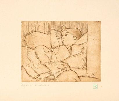 Armand SEGUIN (1869 - 1904)  Jeune femme...