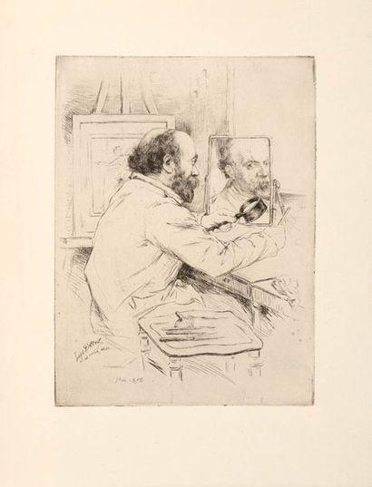 Loys DELTEIL  (1869 - 1927)  L'artiste Paul...