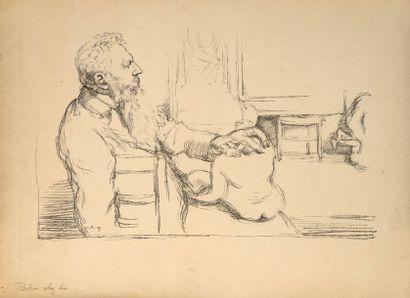 William ROTHENSTEIN (1872 - 1945)  Rodin...
