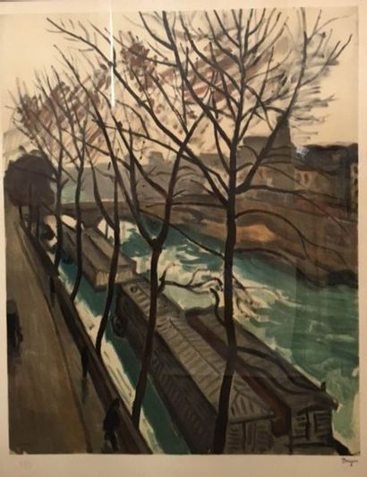 Albert MARQUET (1875-1947)  Bords de Seine...