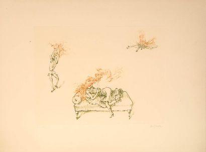 Hans BELLMER  (1902 - 1975)  Sur le canapé...