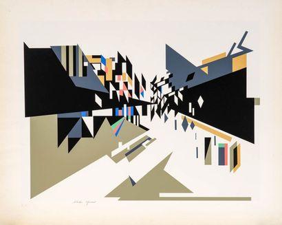 Nadir AFONSO  (1920 - 2013)  Etudes  Deux...