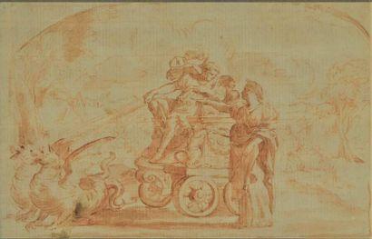Ecole française du XVIIIe siècle  Scène de...