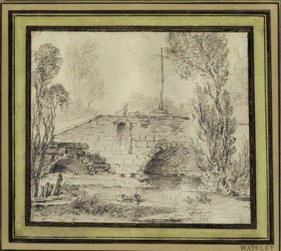Claude-Henri WATELET (1718-1786)  Paysage...