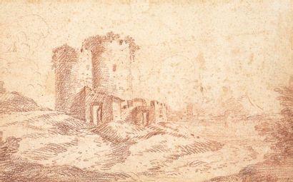Hubert ROBERT (1733-1808) d'après  Paysage...