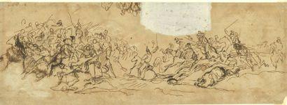 Bataille Ecole française du XIXe siècle...