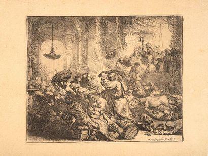 REMBRANDT VAN RIJN (1606 – 1669)  Jésus chassant...