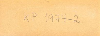Hans HARTUNG (1904-1989)  KP-1974-2  Gouache, Crayon Baryté sur papier  Signée en...