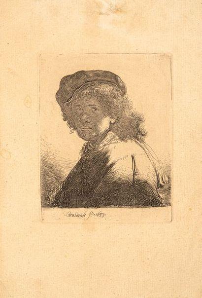 REMBRANDT VAN RIJN (1606 – 1669)  Autoportrait...